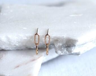 Two Chain Stud Earrings