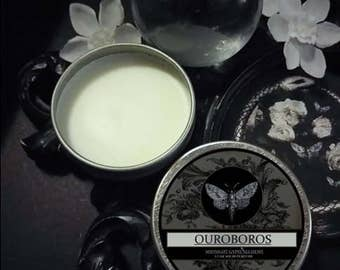 Ouroboros Natural Solid Perfume- Thyme, Lavender, Peach,Osmanthus, Narcissus,Creosote,Orris,Cedarwood,Orange,Labdanum,