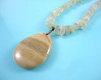 Raw Aquamarine - Rough Aquamarine Necklace - March Birthstone Necklace - Rough Blue Gemstone Necklace - Raw Aquamarine Necklace - Rough Crys