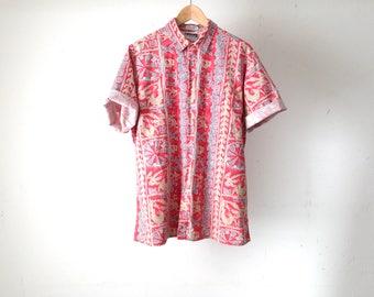 versace style southwest MYSTIC NIGHT fresh prince style 90s short sleeve shirt