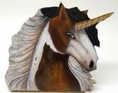 Paint Unicorn Wood Cut Plaque