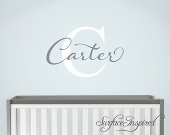 Nursery Wall Decals. Carter with elegant swirls name wall decal for boys and girls rooms. Personalized wall decal made in any colors/size