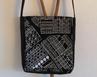 Messenger bag with Marimekko fabric