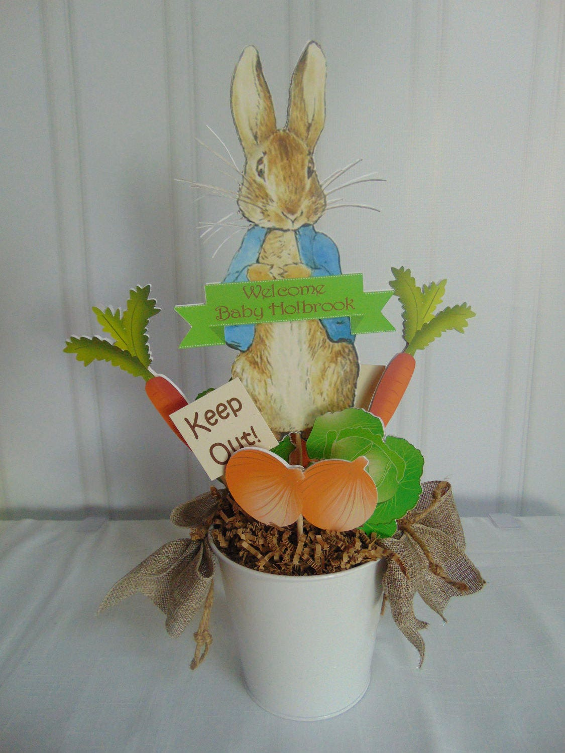 Peter Rabbit Centerpieces Beatrix Potter Bunny Easter 1st
