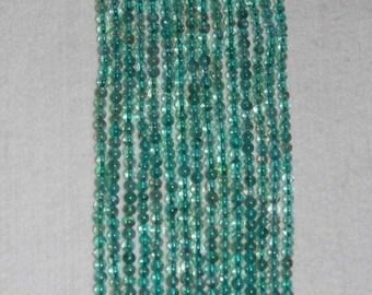 Apatite, Natural Apatite, Apatite Smooth Bead, Gemstone Bead, Blue Green Bead, Natural Stone,  Strand, No1, Grade A,  4.5-5mm