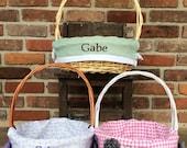 Personalized Easter Basket- Medium - 30 CUTE Fabrics