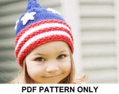 Knitting Pattern - Pixie Hat Pattern - the SAM Hat (Newborn, Baby, Toddler, Child & Adult sizes incl'd)