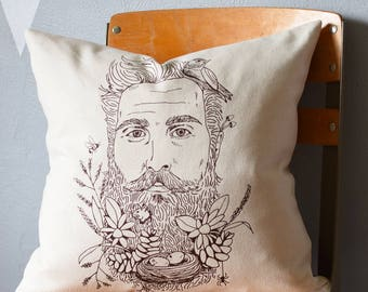 Throw Pillow - Throw Pillow Covers - Screen Printed Pillows - Pillow Case - Home Decor - Kids Room - Decorative Pillows - Nursery - Woodland