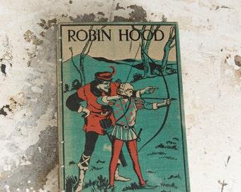 1900s ROBIN HOOD Vintage Grid Lined Notebook Journal