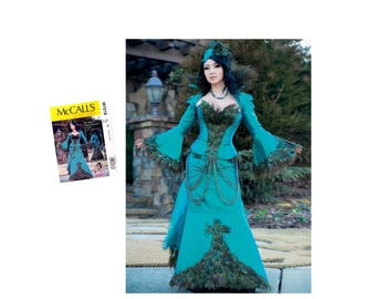 Misses Costume Pattern, Misses Peacock Costume, Yaya Han, Corset Pattern, Misses Jacket Pattern, Misses Skirt, McCall's M7218 Sewing Pattern