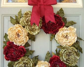Christmas Wreath - Holiday Wreath -  Wreath for Christmas Door