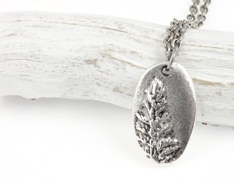 Silver Tree Necklace for Her Antique Silver Pendant Necklace Redwood Tree Pendant Silver Jewelry Gift for Nature Lovers Pine Tree Jewelry