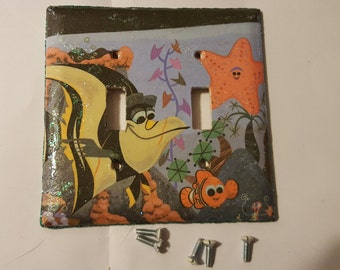 Finding Nemo decoupaged light switch cover