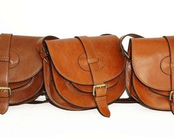 Leather Saddle Bag, Leather Messenger Bag, Leather bag, Leather Messenger, Leather Purse, Leather Cross-body Bag, IPhone case,Goldmann S,tan