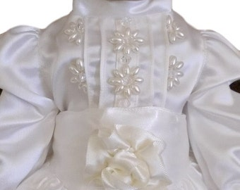"""Collectable Ivory Victorian Wedding fits sizes like American Girl and 18"""" dolls. Three piece Victorian clothing"""