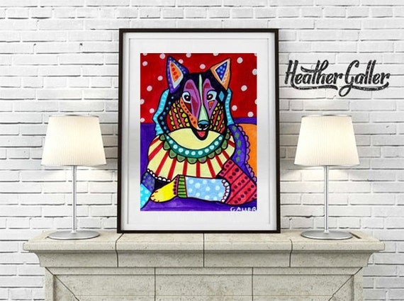 20% Off Today- COLLIE Art - Pet Lovers - Collie Art Print Poster (Hg318)