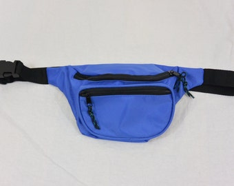 Vintage Fanny Pack, Blue, Tumblr, 90's, Small Purse, Seapunk, Rad, Hipster, Club Kid
