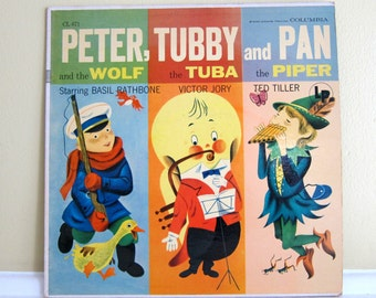 1955 Peter and the Wolf, Tubby the Tuba and Pan Piper LP