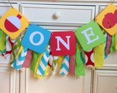Fishing Birthday Banner Highchair banner One Bobber Fish Theme Decor Primary colors Bright colors Little Fisherman Smash cake Photo Prop