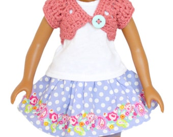 "Download Now - CROCHET PATTERN 13"" - 14.5"" Doll Lacy Shrug Pattern"