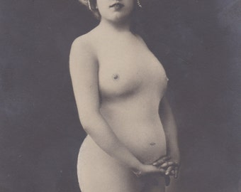Nude Portrait of Méaty Fleuron, Belle Epoque Stage Artiste, by Oricelly of Paris, circa 1900