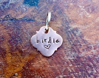The BOHO  Pet Tag. Vintage Inspired Pet Tags™ Custom Name Tag. Handmade by Sycamore Hill Cat Dog Horse Equine ID Identification Tags. Phone.