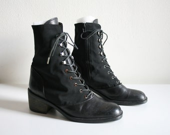 Milano Lace Up Leather Boots 8
