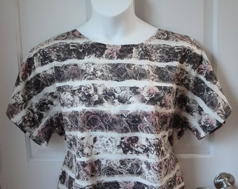 S & M -- Post Surgery Clothing - Shoulder, Breast Cancer, Mastectomy, Heart / Adaptive Clothing / Broken Arm / Breastfeeding -Style Tracie