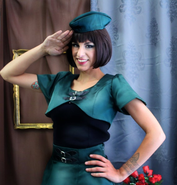 Steampunk Military satin bolero