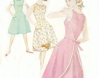 Misses' Wrap Dress Front Pockets Bust 32 Simplicity 5449 Size 12
