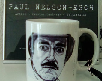 Inspector Clouseau Mug by Paul Nelson-Esch Drawing Art Illustration Fashion Print Design Home Decor Kitchen Cup Christmas Xmas