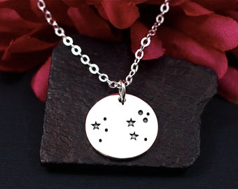 Leo Constellation Necklace Sterling Silver, Leo Star Sign, Leo Zodiac Sign Necklace, Leo Gifts, Gift for Leo, Leo Jewelry, Leo Zodiac Gift
