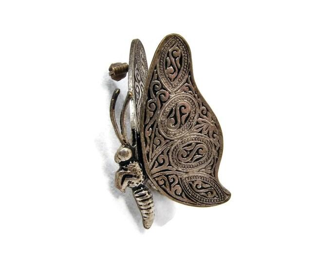 Vintage Damascene Butterfly Brooch from Spain