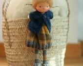"""Waldorf doll, Knitted doll Fabia 14"""", rag doll, OOAK, handmade doll by Peperuda dolls, soft doll"""