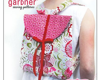 Kids back pack paper pattern from Carina Gardner sewing Patterns, Todaloo Back pack.