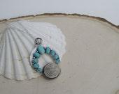 Her Tides Necklace | Naja Pendant | Turquoise Necklace | Sand Dollar Necklace | Moon Necklace | Mermaid Necklace | Mermaid Jewelry