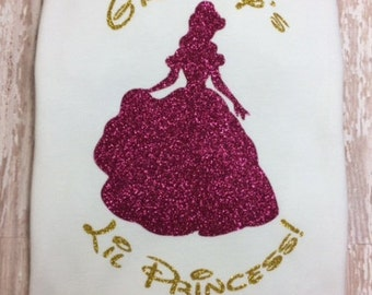 Personalized Princess Shirt/Cinderella/Heat Transfer Glitter
