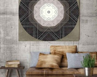 Nordic art, graphic design art, abstract geometric print, abstract wall art, sepia art, lodge art, rustic wall art, modern art, scandinavian