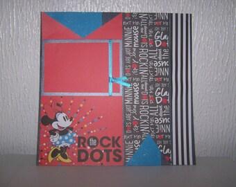 Premade layout. 12 x 12 scrapbook. Disney scrapbook. Minnie Mouse. Disney artwork. Scrapbook layout. Scrapbook children. Premade layout.