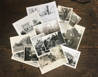 "30 pc - Vintage Photos ""Home Sweet Home Collection"" Snapshot Lot Old Photo Black & White Photography Paper Ephemera Collectibles - 120316"