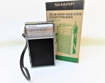 Vintage Transistor Radio | Sharp Portable Radio | Working Radio | Pocket Radio | Walkman | Original Box