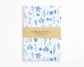 Leaves collection notebook, inexpensive gifts, gifts under 10, gift for her, gifts for women, gift for stationery lover botanical stationery