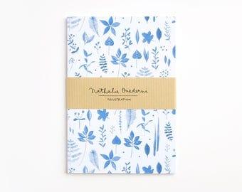 Pocket notebook, pocket journal, pocket size notebook, pocket diary, pocket size journal, mini notebook, A6 notebook, botanical notebook