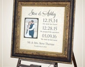 wedding Gift,Personalized Wedding sign, Special Dates, Personalized Engagement Wedding Gift for Bride, Personalized Anniversary 16 X 16