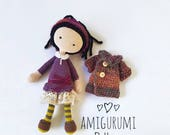 AMIGURUMI doll PATTERN, Crochet Doll Pattern, PDF for learn crochet, Amigurumi pattern pdf, Ebook, crochet toy diy, crochet doll pattern