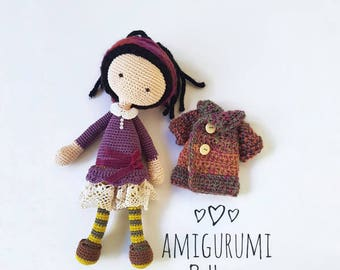 AMIGURUMI doll PATTERN, Crochet Doll Pattern, PDF for learn crochet, Amigurumi pattern pdf, Ebook, crochet toy diy