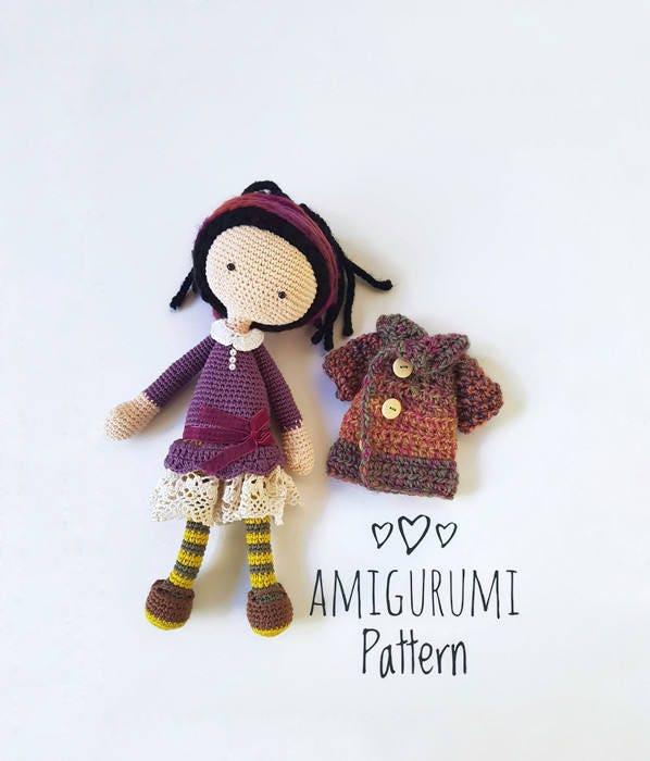Amigurumi Mini Doll Pattern : AMIGURUMI doll PATTERN Crochet Doll Pattern PDF for learn