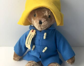 "Paddington Bear - 19"" Eden Toys plush bear from Darkest Peru - 1975"