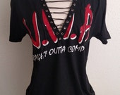 N.W.A. Straight Outta Compton Lace Up Top T Shirt