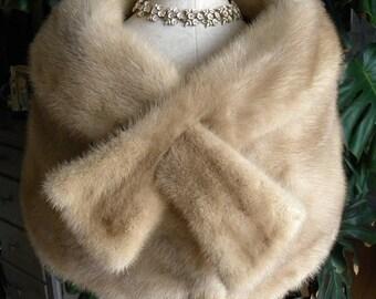 Darling mutation mink fur stole / wrap / cape / wedding